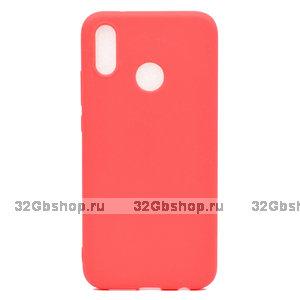 Красный матовый силиконовый чехол для Xiaomi Redmi Note 7