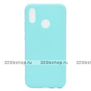 Бирюзовый матовый силиконовый чехол для Xiaomi Redmi Note 7