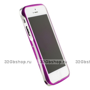 Алюминиевый бампер Deff CLEAVE для iPhone 5 / 5s / SE розовый