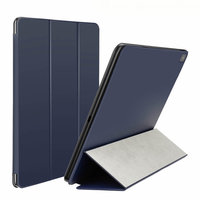 Синий чехол книжка обложка для Apple iPad Pro 12.9 2018 - Baseus Smart Folio Simplism Y-Type Leather Blue