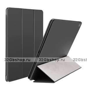Черный чехол книжка обложка для Apple iPad Pro 12.9 2018 - Baseus Smart Folio Simplism Y-Type Leather Black