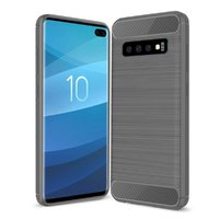 Серый защитный силиконовый чехол для Samsung Galaxy S10+ Plus