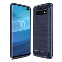 Синий защитный силиконовый чехол для Samsung Galaxy S10+ Plus