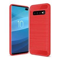 Красный защитный силиконовый чехол для Samsung Galaxy S10+ Plus