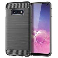 Серый защитный силиконовый чехол для Samsung Galaxy S10e