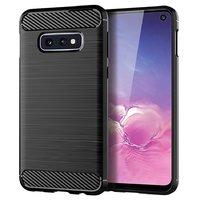 Черный противоударный защитный силиконовый чехол для Samsung Galaxy S10e