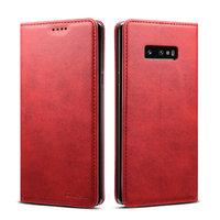 Красный кожаный чехол книга для Samsung Galaxy S10e - i-Carer Vintage Series Red
