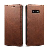 Коричневый кожаный чехол книга для Samsung Galaxy S10e - i-Carer Vintage Series Brown