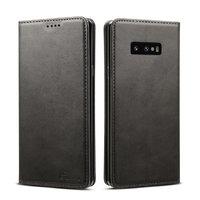 Черный кожаный чехол книга для Samsung Galaxy S10e - i-Carer Vintage Series Black