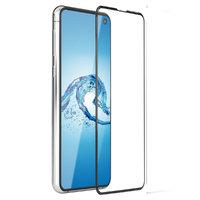 Противоударное защитное стекло для Samsung Galaxy S10e с черной рамкой