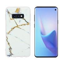 Силиконовый чехол для Samsung Galaxy S10e белый мрамор