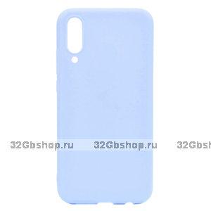 Светло-голубой силиконовый чехол для Xiaomi Mi 9