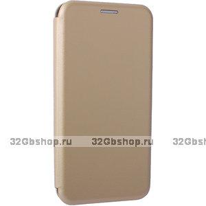 Золотой кожаный чехол книга для Xiaomi Mi 9