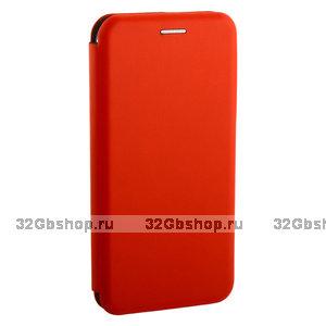 Красный кожаный чехол книга для Xiaomi Mi 9