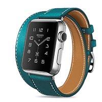 Бирюзовый кожаный ремешок для Apple Watch 44мм / 42мм