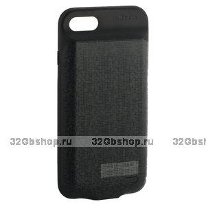 Чехол аккумулятор внешний Baseus Plaid Backpack Power Bank Case 5000 mAh для iPhone 8 / 7 (4.7) черный