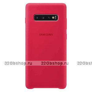 Красный силиконовый чехол для Samsung Galaxy S10 - Silicone Cover Red