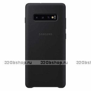 Черный силиконовый чехол для Samsung Galaxy S10 - Silicone Cover Black