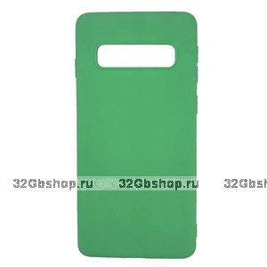 Зеленый силиконовый чехол для Samsung Galaxy S10