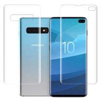 Защитная пленка для Samsung Galaxy S10 Plus(S10+) комплект передняя и задняя часть