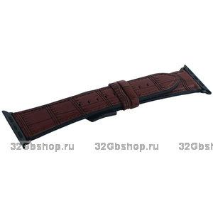 Ремешок кожаный COTEetCI Fashion Leather для Apple Watch 44мм/ 42мм Коричневый