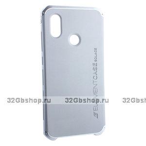 Серебристый чехол-накладка Element Case для Xiaomi Mi 8