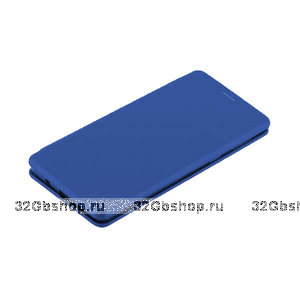 Синий кожаный чехол книга для Samsung Galaxy S10+ Plus