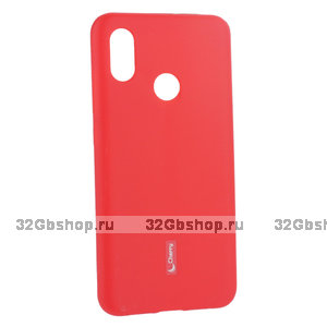 Красный матовый силиконовый чехол и пленка для Xiaomi Mi 8 - Cherry Matte Red Case 0.4mm & Screen