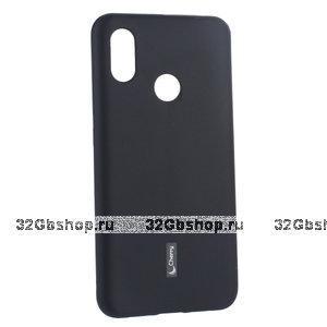 Черный матовый силиконовый чехол и пленка для Xiaomi Mi 8 - Cherry Matte Black Case 0.4mm & Screen