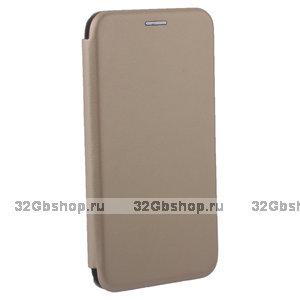 Золотой чехол-книга для Xiaomi Mi 8 - Fashion Case Slim-Fit Gold