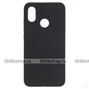 Черный силиконовый чехол для Xiaomi Mi 8