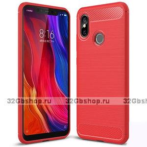 Красный защитный силиконовый чехол для Xiaomi Mi 8
