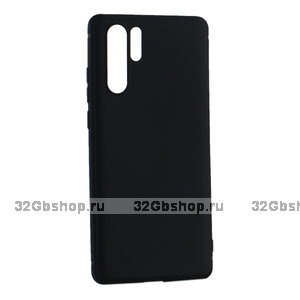 Черный силиконовый чехол для huawei p30 Pro