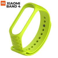 Зеленый ребристый силиконовый браслет для Xiaomi Mi Band 4