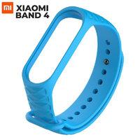 Голубой ребристый силиконовый ремешок для Xiaomi Mi Band 4