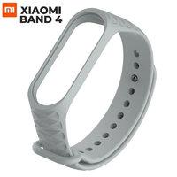 Серый ребристый силиконовый браслет для Xiaomi Mi Band 4