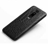 Черный чехол из кожи крокодила для Xiaomi Redmi K20 / K20 Pro