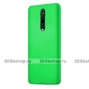 Зеленый пластиковый чехол накладка для Xiaomi Mi 9T / 9T Pro