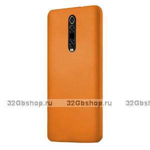 Оранжевый пластиковый чехол-накладка для Xiaomi Mi 9T / 9T Pro