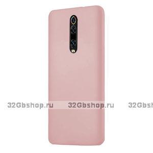 Пластиковый чехол накладка для Xiaomi Mi 9T / 9T Pro розовое золото
