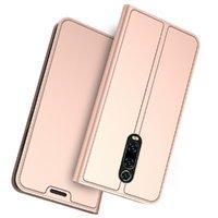 Кожаный чехол книжка для Xiaomi Mi 9T / 9T Pro розовое золото