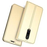Золотой кожаный чехол книга для Xiaomi Mi 9T / 9T Pro
