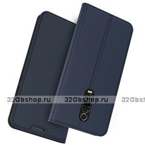 Синий кожаный чехол книга для Xiaomi Mi 9T / 9T Pro