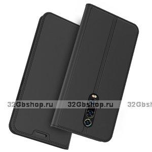 Черный кожаный чехол книжка для Xiaomi Mi 9T / 9T Pro