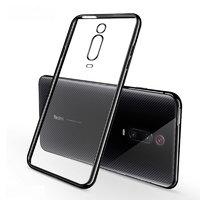 Прозрачный силиконовый чехол с черным бампером для Xiaomi Mi 9T / 9T Pro