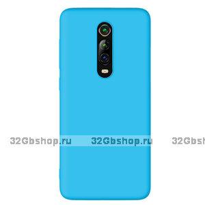 Голубой силиконовый чехол для Xiaomi Mi 9T / 9T Pro