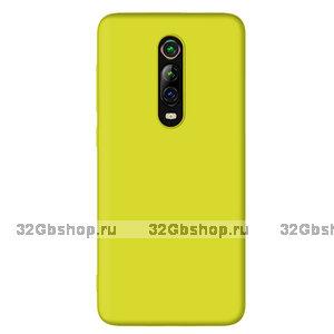 Желтый силиконовый чехол для Xiaomi Mi 9T / 9T Pro