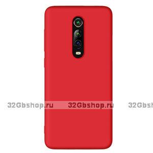 Красный силиконовый чехол накладка для Xiaomi Mi 9T / 9T Pro