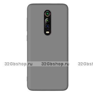 Серый силиконовый чехол накладка для Xiaomi Mi 9T / 9T Pro