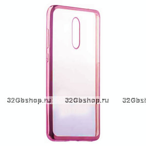 Малиновый прозрачный силиконовый чехол с ободком для Xiaomi Redmi K20 / K20 Pro